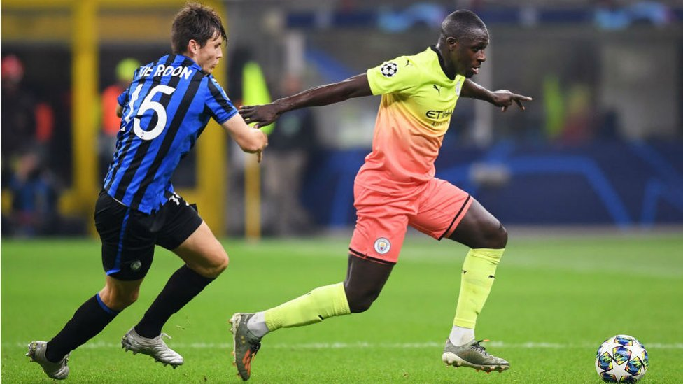 ACTION STATIONS : Benjamin Mendy puts on the after-burners