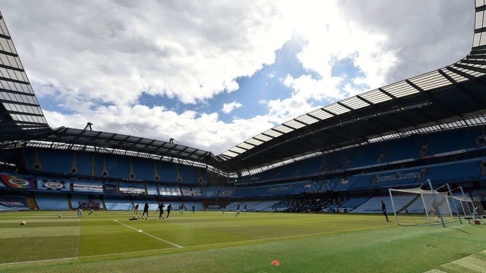 HOME : The Etihad looks as beautiful as always ahead of the visit of Norwich City.