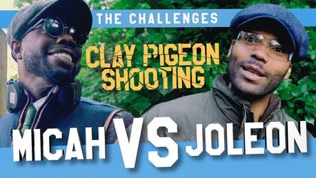 Micah v Joleon: Challenge #1: Clay pigeon shooting