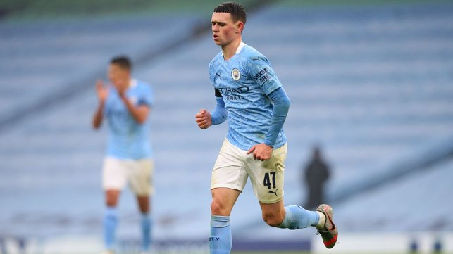 ON TOP : Phil Foden's sweetly struck goal put us into a commanding 3-0 lead at the break.