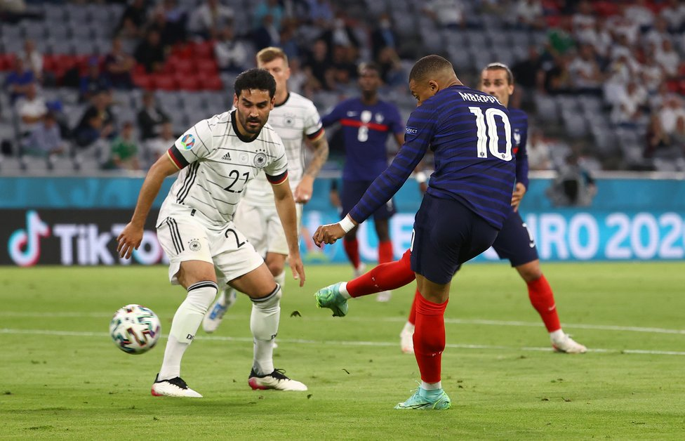 GUNDO GO : Ilkay Gundogan also featured in Germany's opening game but couldn't prevent his side from falling to defeat to France