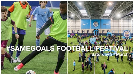 SAME GOALS: City are hosting a football festival on Saturday 9 March