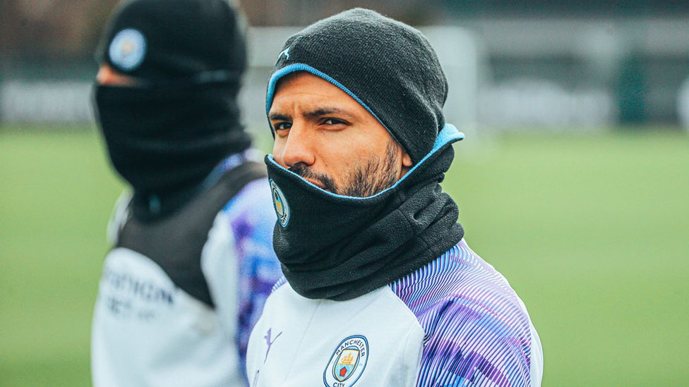 HAT TRICK : Sergio Aguero has his eyes trained on United