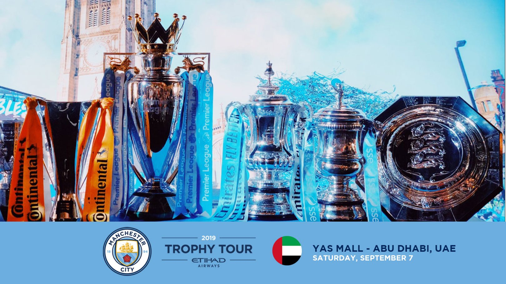 TROPHY TOUR: City are heading to Abu Dhabi.