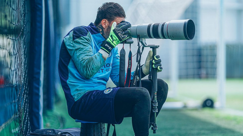 PICTURE PERFECT: Ederson goes behind the lens!