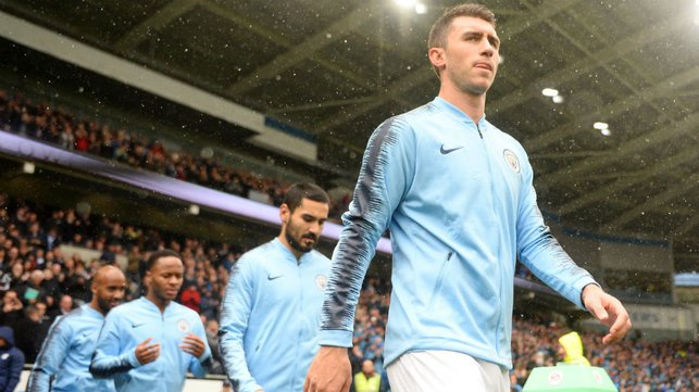 LET'S DO THIS : Aymeric Laporte heads out