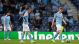 DOWNBEAT: City players reacts to the Havertz goal.