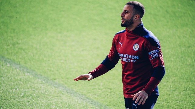 KYLE AND COLLECTED: Kyle Walker goes through the motions