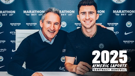 2025: Aymeric Laporte has signed a new City deal