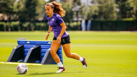 ON THE FRONT FOOT: Summer signing Matilde Fidalgo goes through her paces