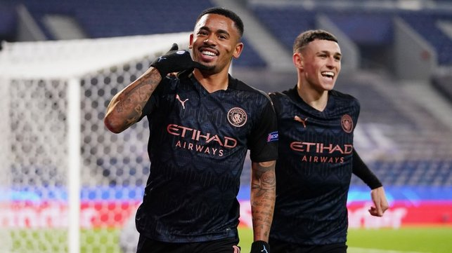 THIS PARTY'S OVER: Gabriel Jesus' celebrations are cut short by a VAR review
