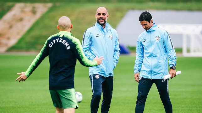 WATCHING ON : Pep assesses the squad
