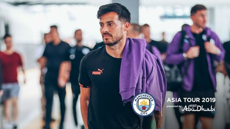 NANJING BOUND: The squad have arrived in Nanjing ahead of tonight's game against West Ham.