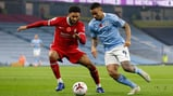 GAB ON THE RUN: Gabriel Jesus looks to get the better of Joe Gomez