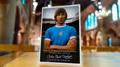 Friends and family gather in tribute to Colin Bell