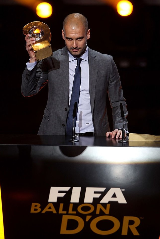 WORLD NUMBER ONE : The Catalonian is named 2011 FIFA World Coach of The Year