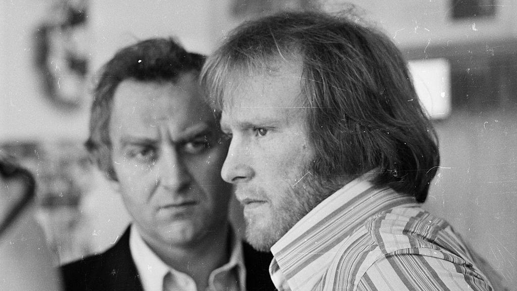 HARD HITTING : John Thaw with Dennis Waterman, his co-star in The Sweeney