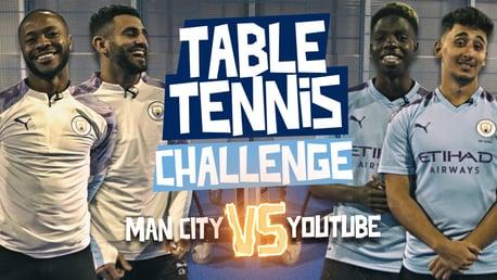 TABLE TENNIS CHALLENGE: City v YouTube