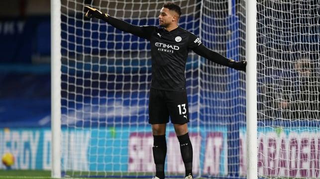SAFE HANDS: Zack Steffen makes his Premier League debut