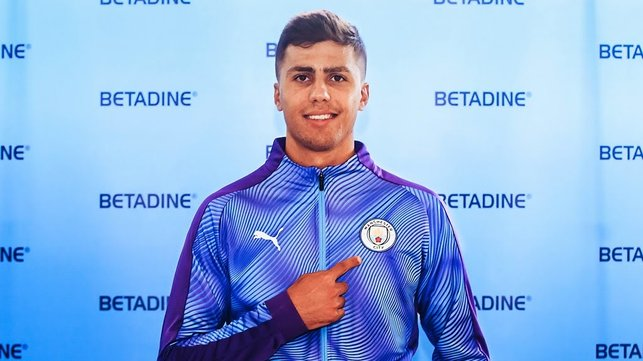 BADGE OF HONOUR : Rodri says he can't wait to get started with his City career