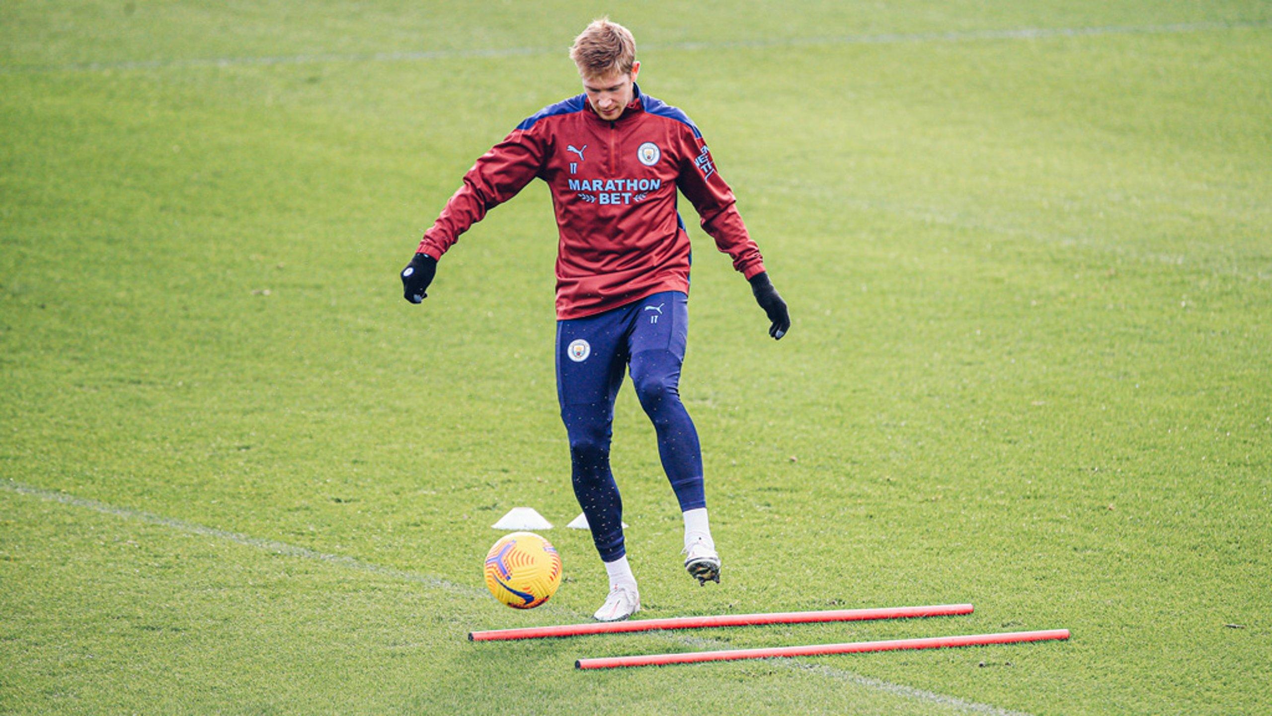 Kevin De Bruyne returns to training