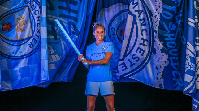 LEADING LIGHT : Skipper Steph Houghton is ready to lead from the front against United