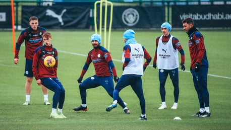 Training: Tuesday tune up ahead of Burnley