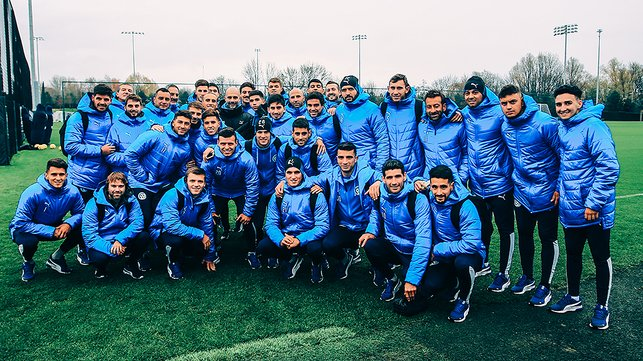 BLUE CAMP : The Torque squad were delighted to be at the CFA