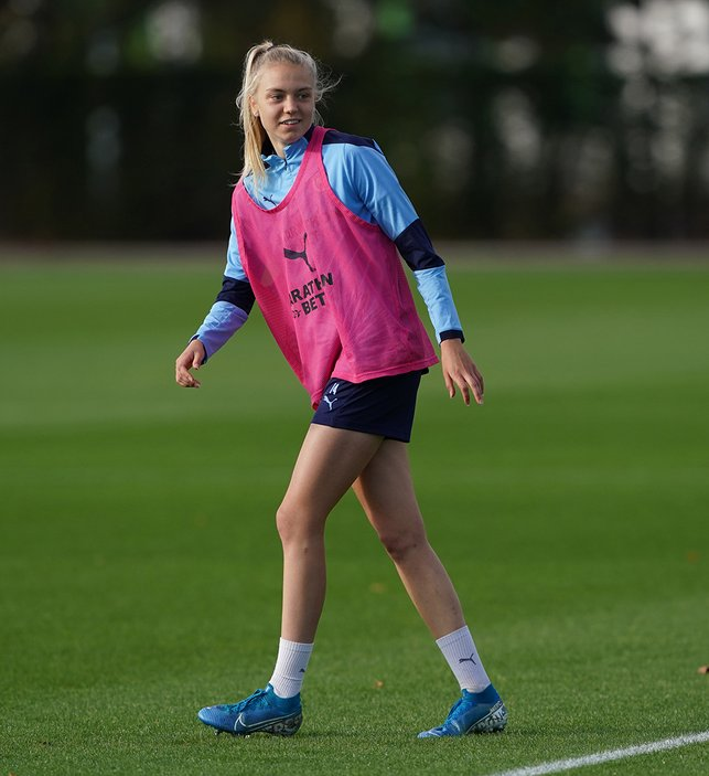 BLUE DREAMS : Teenage City fan Esme Morgan received her second England call-up this week