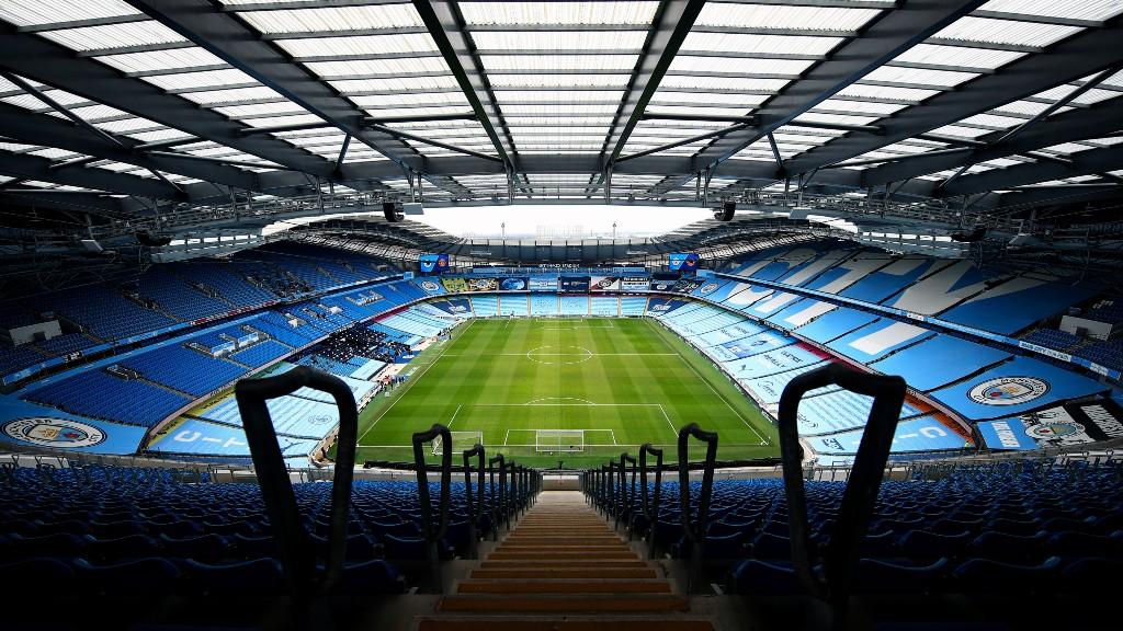 O Manchester City tem o prazer de receber os torcedores de volta ao Etihad Stadium