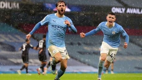 BREAKTHROUGH: Bernardo wheels away in celebration