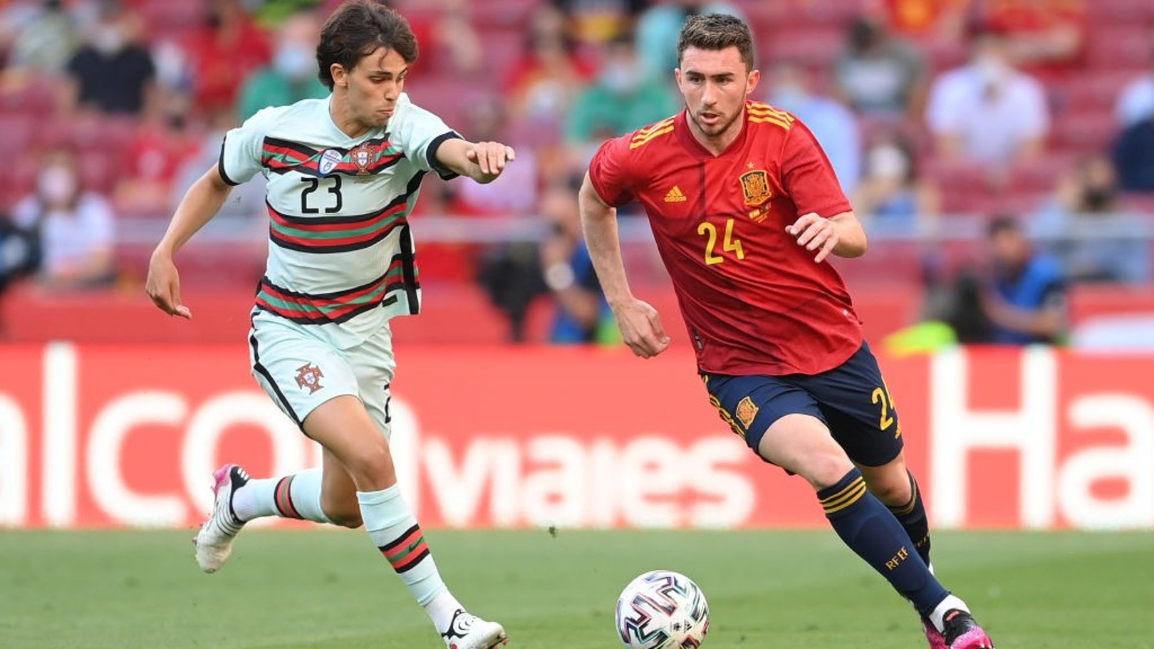 Aymeric Laporte makes Spain debut in stalemate