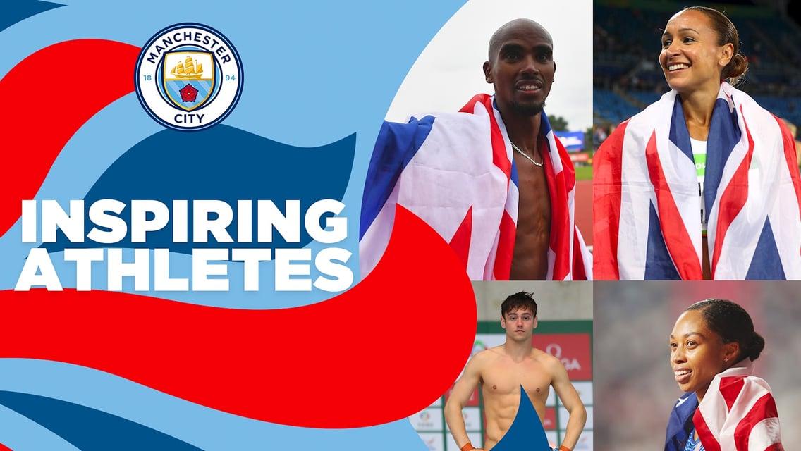 올림픽에 출전하는 CITY 선수들에게 영감을 불어넣어 준 올림픽 영웅