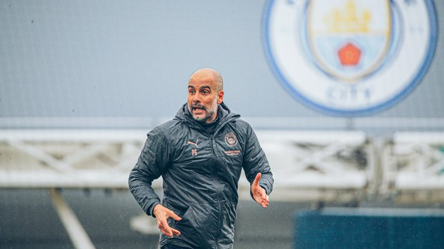 PEP TALK : The boss gives his instructions.