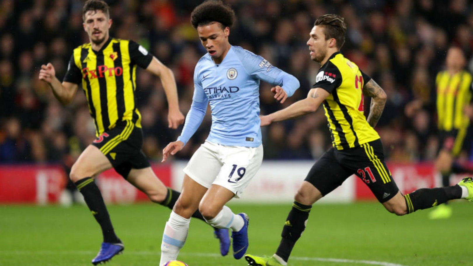 WING WIZARD: Leroy Sane sets off another attacking run