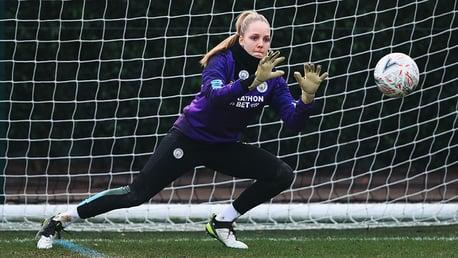 SAFE HANDS: Ellie Roebuck keeps her eyes on the ball