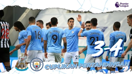 Newcastle 3-4 City: Cuplikan Singkat