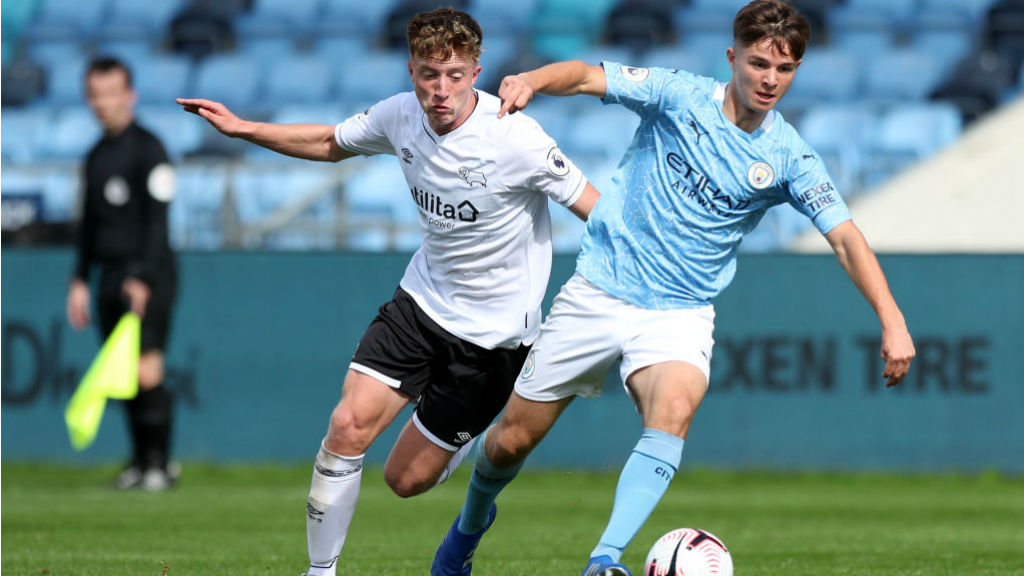 DANGER MAN: James McAtee came close to furthering City's advantage