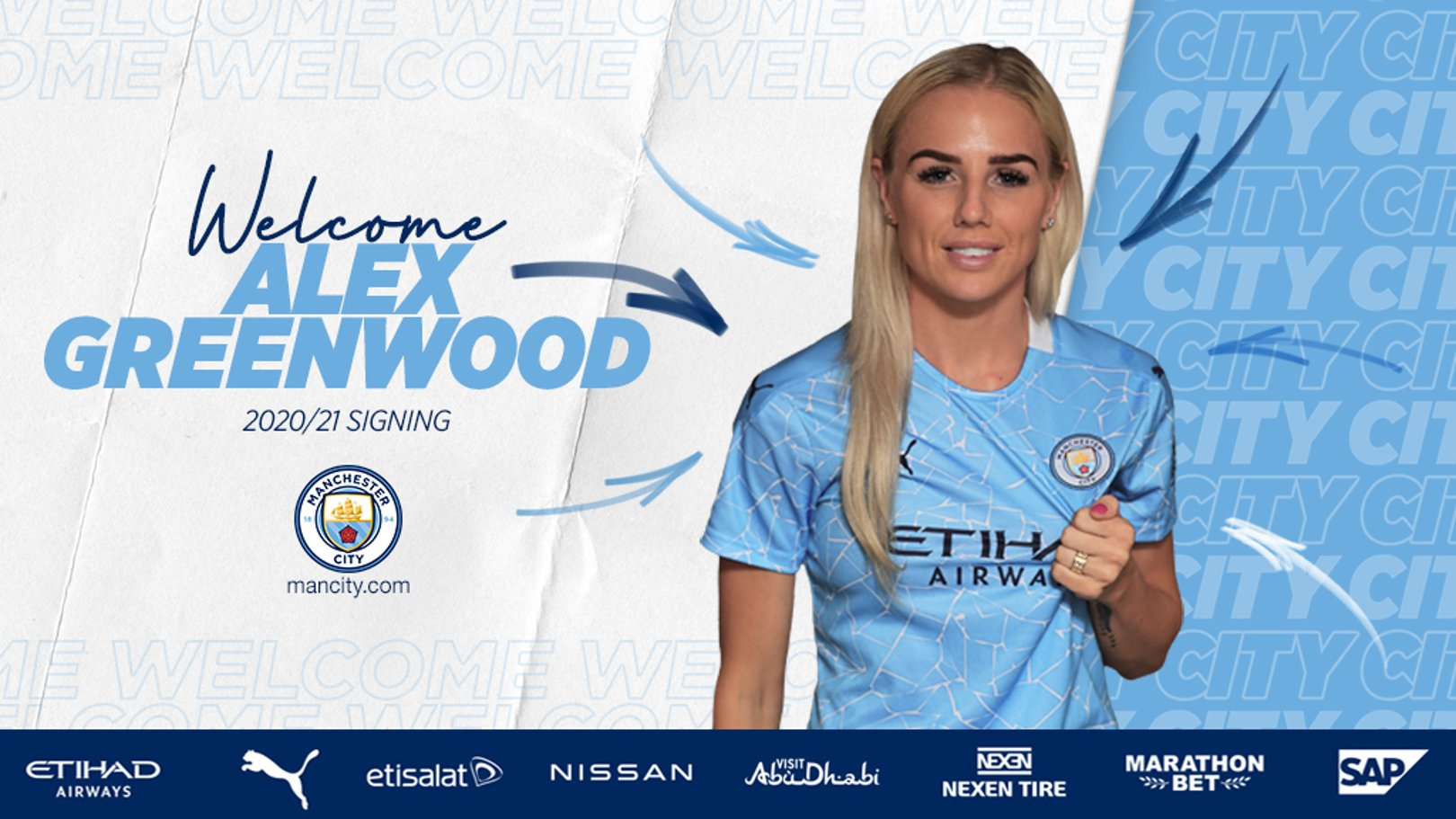 City sign Alex Greenwood