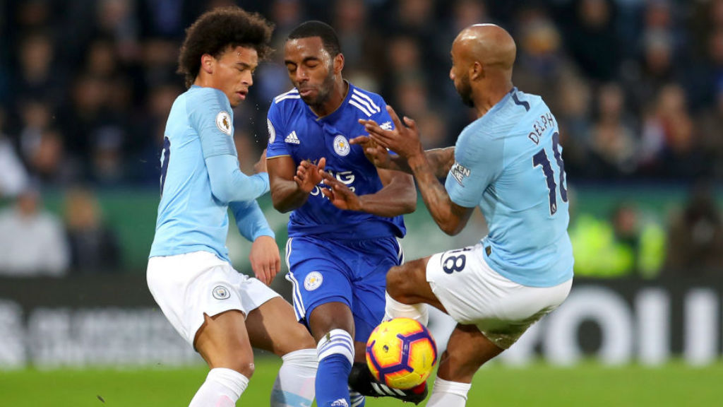 STOP START : Fabian Delph and Leroy Sane put the squeeze on Ricardo