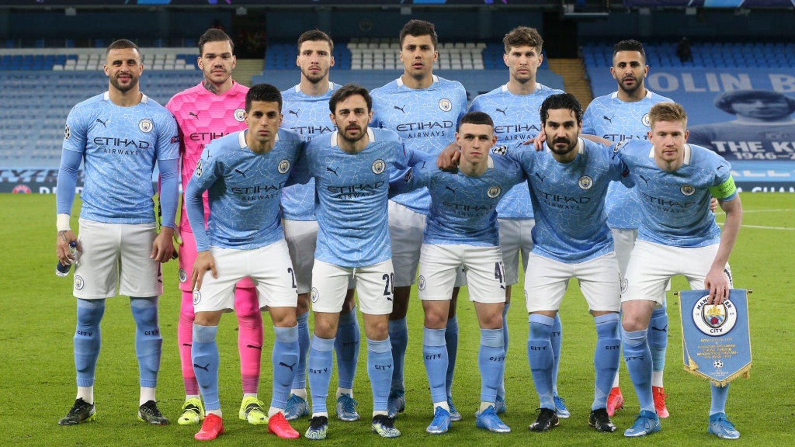 SQUAD GOALS: The starting team pose for a photo ahead of kick-off.