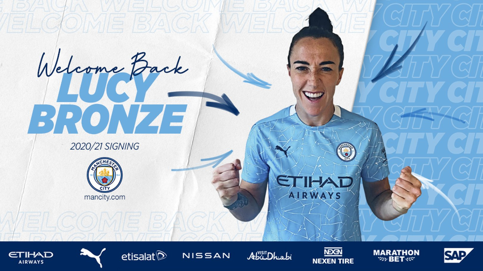 Lucy Bronze re-joins City