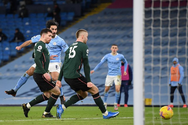 MAN OF THE MOMENT : Ilkay Gundogan once again gets on the scoresheet to double our lead!