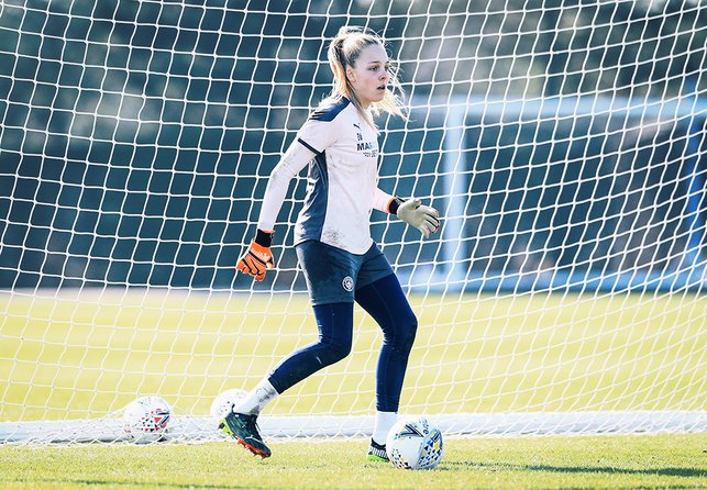 GOLDEN GLOVES : Ellie Roebuck says there is 'no excuse' for City not to conquer Europe with the talent amongst the squad