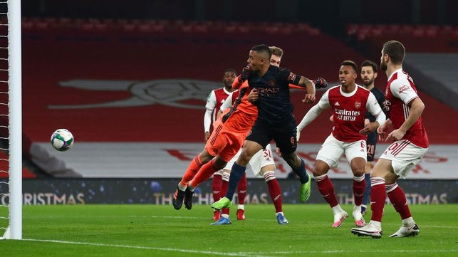 HEADY HEIGHTS: Gabriel Jesus puts us into an early lead