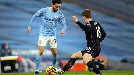 SILKY SILVA: Bernardo looks to get the better of Matt Targett