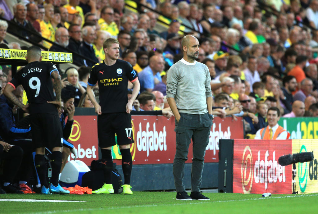 DOUBLE SUB : Pep Guardiola rolls the dice by bringing on De Bruyne and Jesus