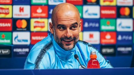 PEP TALK: The manager has addressed the media ahead of Tuesday's Champions League clash