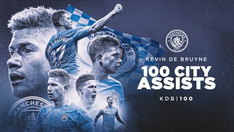 Kevin De Bruyne Capai 100 Assist Untuk City