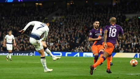 SETBACK: Heung-Min Son takes the lead for Spurs